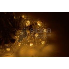 Гирлянда LED Galaxy Bulb String 10м, черный КАУЧУК, 30 ламп*6 LED ЖЕЛТЫЕ, влагостойкая IP65| 331-321| NEON-NIGHT