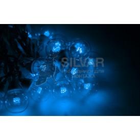 Гирлянда LED Galaxy Bulb String 10м, черный КАУЧУК, 30 ламп*6 LED СИНИЕ, влагостойкая IP65| 331-323| NEON-NIGHT