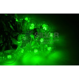 Гирлянда LED Galaxy Bulb String 10м, черный КАУЧУК, 30 ламп*6 LED ЗЕЛЕНЫЕ, влагостойкая IP65| 331-324| NEON-NIGHT