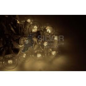 Гирлянда LED Galaxy Bulb String 10м, черный КАУЧУК, 30 ламп*6 LED ТЕПЛЫЙ БЕЛЫЙ, влагостойкая IP65| 331-326| NEON-NIGHT