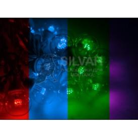 Гирлянда LED Galaxy Bulb String 10м, черный КАУЧУК, 30 ламп*6 LED МУЛЬТИ, влагостойкая IP65| 331-329| NEON-NIGHT