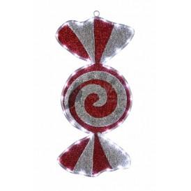 "Фигура ""Карамель"" бархатная, размеры 60*30 см (42 БЕЛЫХ светодиодов) | 514-052 | NEON-NIGHT"
