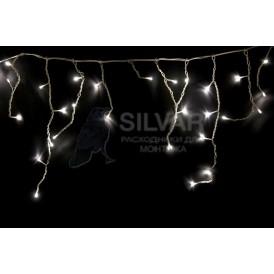 Гирлянда Айсикл (бахрома) светодиодный, 2,4 х 0,6 м, прозрачный провод, 230 В, диоды ТЕПЛЫЙ БЕЛЫЙ, 88 LED|255-056| NEON-NIGHT