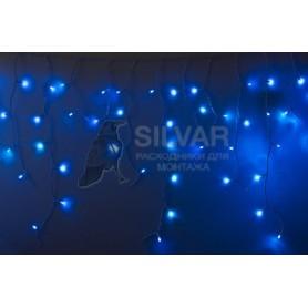 Гирлянда Айсикл (бахрома) светодиодный, 2,4 х 0,6 м, белый провод, 230 В, диоды синие, 76 LED|255-033-6| NEON-NIGHT