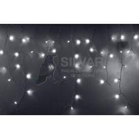Гирлянда Айсикл (бахрома) светодиодный, 2,4 х 0,6 м, прозрачный провод, 230 В, диоды белые, 88 LED|255-055| NEON-NIGHT
