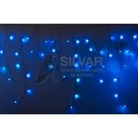 Гирлянда Айсикл (бахрома) светодиодный, 4,8 х 0,6 м, белый провод, 230 В, диоды синие, 152 LED |255-136-6| NEON-NIGHT