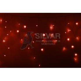 Гирлянда Айсикл (бахрома) светодиодный, 4,8 х 0,6 м, прозрачный провод, 230 В, диоды красные, 176 LED|255-142| NEON-NIGHT