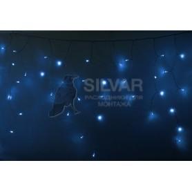 Гирлянда Айсикл (бахрома) светодиодный, 4,8 х 0,6 м, прозрачный провод, 230 В, диоды синие, 176 LED|255-143| NEON-NIGHT