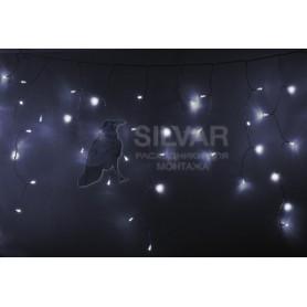 Гирлянда Айсикл (бахрома) светодиодный, 4,8 х 0,6 м, прозрачный провод, 230 В, диоды белые, 176 LED |255-145| NEON-NIGHT