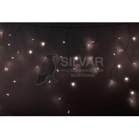 Гирлянда Айсикл (бахрома) светодиодный, 4,8 х 0,6 м, прозрачный провод, диоды ТЕПЛЫЙ БЕЛЫЙ, 176 LED |255-146| NEON-NIGHT