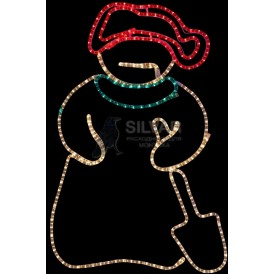 "Фигура ""Снеговик с лопатой"", размер 94*63 см  | 501-321 | NEON-NIGHT"