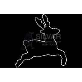 "Фигура ""Бегущий олень"" белый,  размер 87*84 см  | 501-326 | NEON-NIGHT"