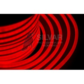 Гибкий Неон LED - красный, оболочка красная, бухта 50м |131-022| NEON-NIGHT