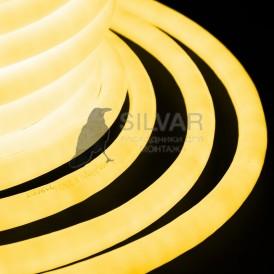Гибкий Неон LED 360 (круглый) - желтый, бухта 50м Neon-night 131-031