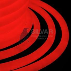 Гибкий Неон LED 360 (круглый) - красный, бухта 50м Neon-night 131-032