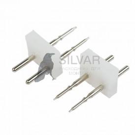 Разъем-иглы для соединения гибкого неона 12х12мм на шнур/коннектор|134-033| NEON-NIGHT