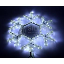 "Фигура ""Снежинка"" цвет белый, размер 45*38 см  | 501-212-1| NEON-NIGHT"