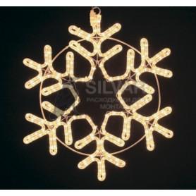 "Фигура ""Снежинка"" цвет ТЕПЛЫЙ БЕЛЫЙ, размер 55*55 см  | 501-324 | NEON-NIGHT"
