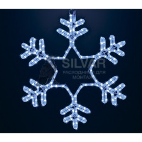 "Фигура ""Снежинка"" LED Светодиодная, без контр. размер 55*55см, ""СИНЯЯ"" | 501-335| NEON-NIGHT"