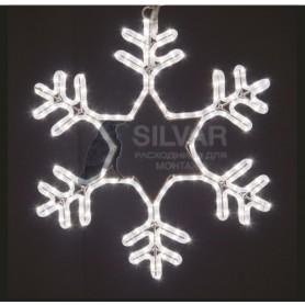 """Фигура световая """"Снежинка"""" цвет белый, размер 55*55 см, мерцающая   501-337   NEON-NIGHT"""
