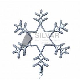 """Фигура световая """"Снежинка"""" цвет белый, размер 55 см, мигающая (2В с контроллером)    501-347   NEON-NIGHT"""