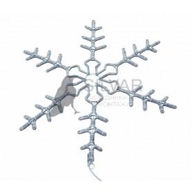 """Фигура световая """"Снежинка"""" цвет белый, размер 95 см, мигающая (2В с контроллером)   501-348   NEON-NIGHT"""