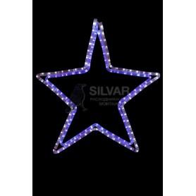 "Фигура световая ""Звезда"" цвет белый/синий, размер 56 х 60 см  | 501-514 | NEON-NIGHT"