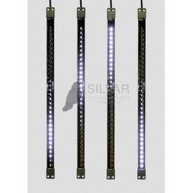 Сосулька светодиодная 50 см, 9,5V, двухсторонняя, 32х2 светодиодов, пластиковый корпус черного цвета, цвет светодиодов желтый| 256-122 | NEON-NIGHT