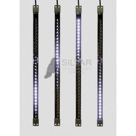 Сосулька светодиодная 50 см, 9,5V, двухсторонняя, 32х2 светодиодов, пластиковый корпус черного цвета, цвет светодиодов белый| 256-125 | NEON-NIGHT