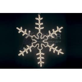 "Фигура ""Большая Снежинка"" цвет ТЕПЛЫЙ БЕЛЫЙ, размер 95*95 см| 501-313| NEON-NIGHT"