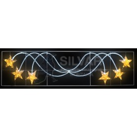 "Фигура световая ""Брызги звезд"" 360 светодиодов 24м дюралайта, размер 400*100см | 501-361| NEON-NIGHT"