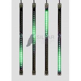Сосулька светодиодная 50 см, 9,5V, двухсторонняя, 32х2 светодиодов, пластиковый корпус черного цвета, цвет светодиодов зеленый| 256-121 | NEON-NIGHT