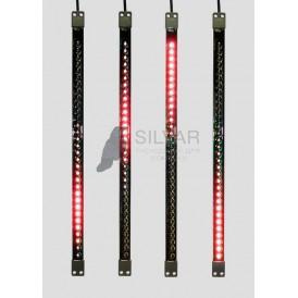 Сосулька светодиодная 50 см, 9,5V, двухсторонняя, 32х2 светодиодов, пластиковый корпус черного цвета, цвет светодиодов красный| 256-123 | NEON-NIGHT