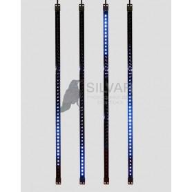 Сосулька светодиодная 80 см, 9,5V, двухсторонняя, 48х2 светодиодов, пластиковый корпус черного цвета, цвет светодиодов синий| 256-126 | NEON-NIGHT