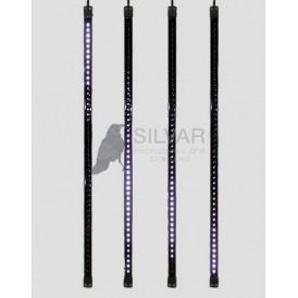 Сосулька светодиодная 80 см, 9,5V, двухсторонняя, 48х2 светодиодов, пластиковый корпус черного цвета, цвет светодиодов белый| 256-127 | NEON-NIGHT