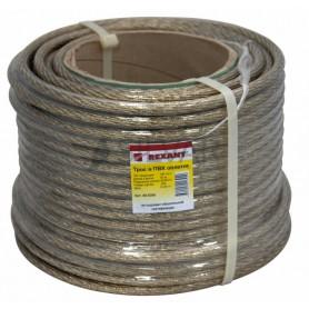 Трос стальной в ПВХ изоляции d=10мм, катушка 50 метров Rexant 09-5300