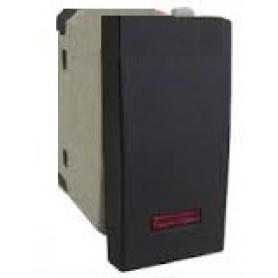 Выключатель с индикатором 45х22,5 мм (схема 1L) 16 A, 250 B (черный бархат) LK45   850308   Экопласт