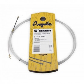 Протяжка кабельная (мини УЗК в бухте), 5м, нейлон, d=3мм, латунный наконечник, заглушка.