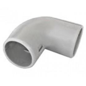 CI25G Угол 90 гр.(2част.), без галогена, для труб D25мм
