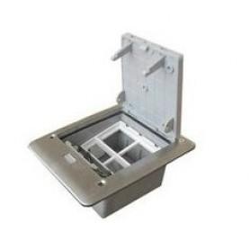 Люк для розеток в пол на 2 поста (45х45)+2 модуля (45х22,5) без коробки, сталь