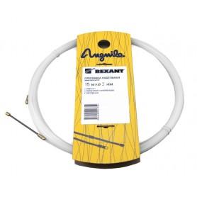 Протяжка кабельная (мини УЗК в бухте), 15м, нейлон, d=3мм, латунный наконечник, заглушка.