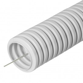 Труба гибкая гофрированная ПВХ 16 мм с протяжкой (100м)  Промрукав
