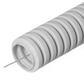 Труба гибкая гофрированная ПВХ 16мм с протяжкой строительная (50м) | 031650 | Промрукав