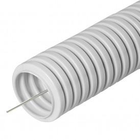 Труба гибкая гофрированная ПВХ 25 мм с протяжкой (50м)  Промрукав