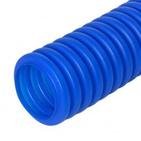 Труба гибкая гофрированная ПНД 16мм защитная для МПТ (пешель) (100м/5500м уп/пал) синий | PR02.0094 | Промрукав