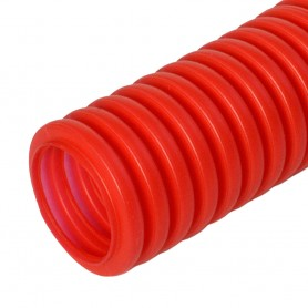 Труба гибкая гофрированная ПНД 20мм защитная для МПТ (пешель) (100м/4800м уп/пал) красный | PR02.0088 | Промрукав