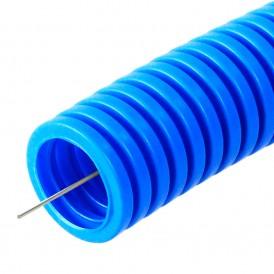 Труба гибкая гофрированная ПП 25мм с протяжкой лёгкая безгалогенная (HF) (50м/2600м уп/пал) | PR02.0053 | Промрукав