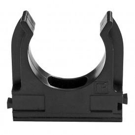 Крепеж-клипса  для труб черная 40 мм