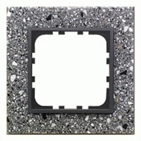 Рамка 1-постовая из декоративного камня (серый гранит) LK60