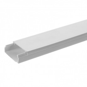 Кабель-канал белый  20х12,5 (108м/уп) ECO | 77202 | Ecoplast